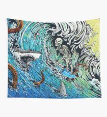 Skeleton Surfer Wall Tapestry