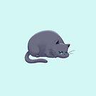 Chubby Grumpy Kitty (Gray) by ArtOfSkuba