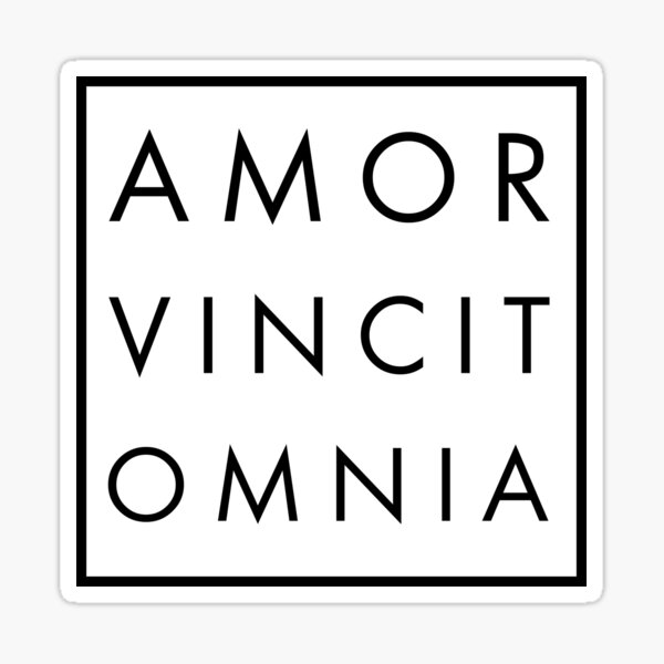 Amor Vincit Omnia Sticker