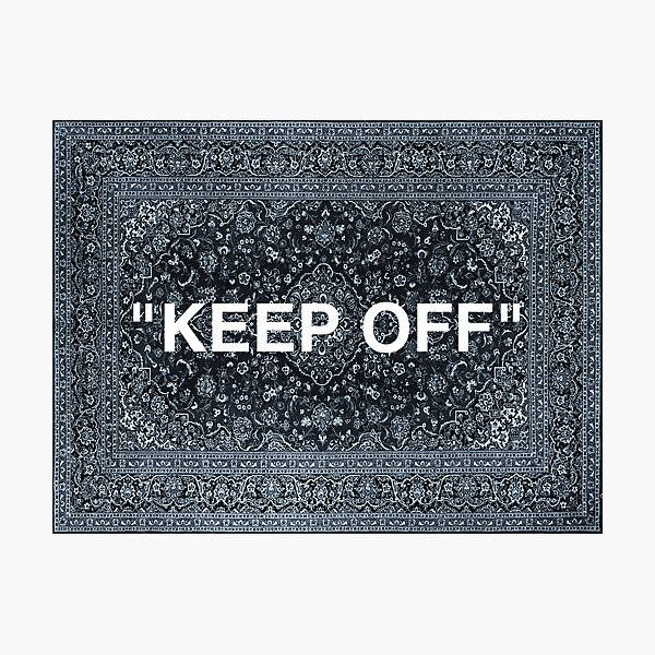 "Tapis persan ""KEEP OFF"" Impression photo"