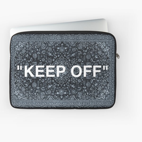 "Tapis persan ""KEEP OFF"" Housse d'ordinateur"