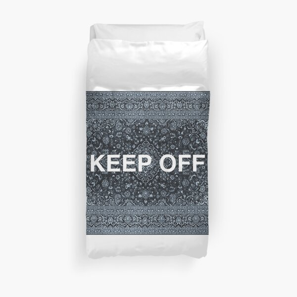 """Tapis persan """"KEEP OFF"""" Housse de couette"""