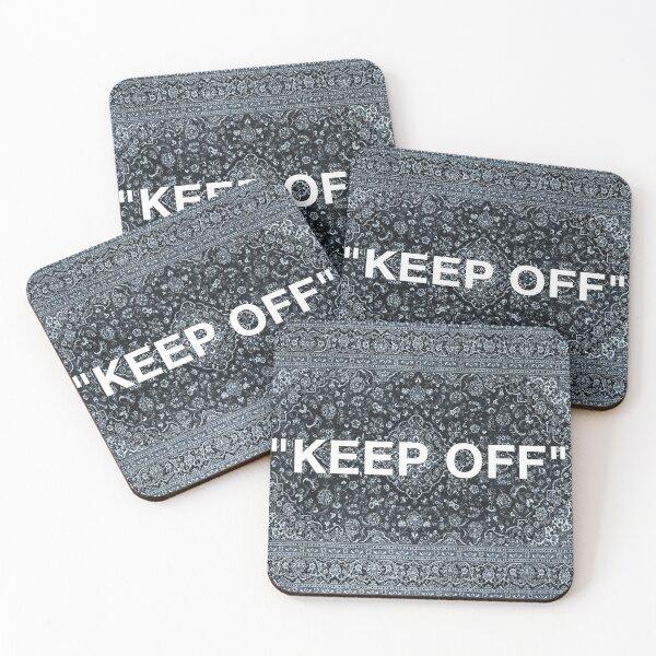 """KEEP OFF"" Persian Rug Coasters (Set of 4)"