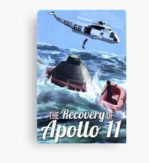 Apollo 11 Recovery  Canvas Print