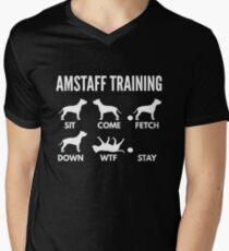 Camiseta para hombre de cuello en v Entrenamiento de Amstaff Trucos de Staffordshire