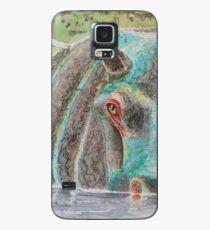 Flusspferd-Reflexionen Hülle & Klebefolie für Samsung Galaxy