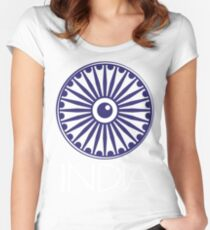 Ashok Chakra, India Women's Fitted Scoop T-Shirt