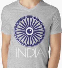 Ashok Chakra, India Mens V-Neck T-Shirt