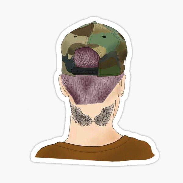 Justin Purple Haar Sticker