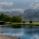 Ben Nevis and the Caledonian canal by Terry Mooney