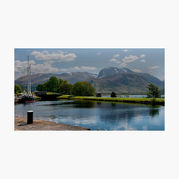 Ben Nevis and the Caledonian canal Photographic Print
