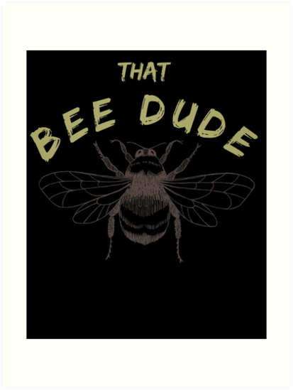 Beekeeper Shirt Honey Bee T Shirt For Men Vintage Art Prints By