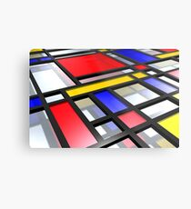 Mondrian inspiriert 3D Metalldruck