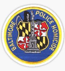 Baltimore Police Homicide Sticker