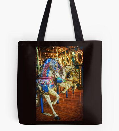 Carousel Horses Tote Bag
