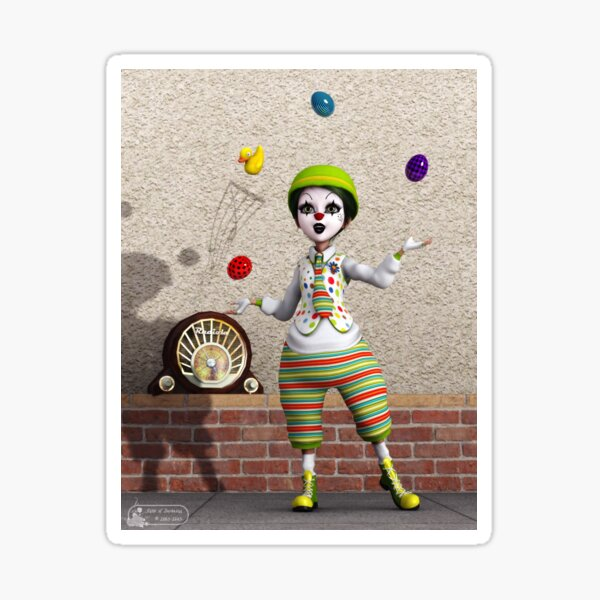 Juggling Sticker