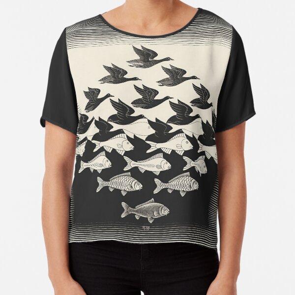 Sky and Water I - Maurits Cornelis Escher Chiffon Top