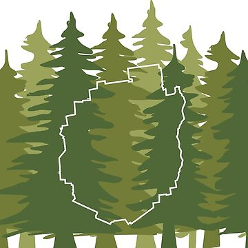 Adirondack Drawstring Bag by nataleeae