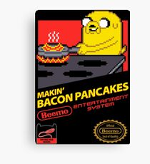 Super Makin' Bacon Pancakes Canvas Print