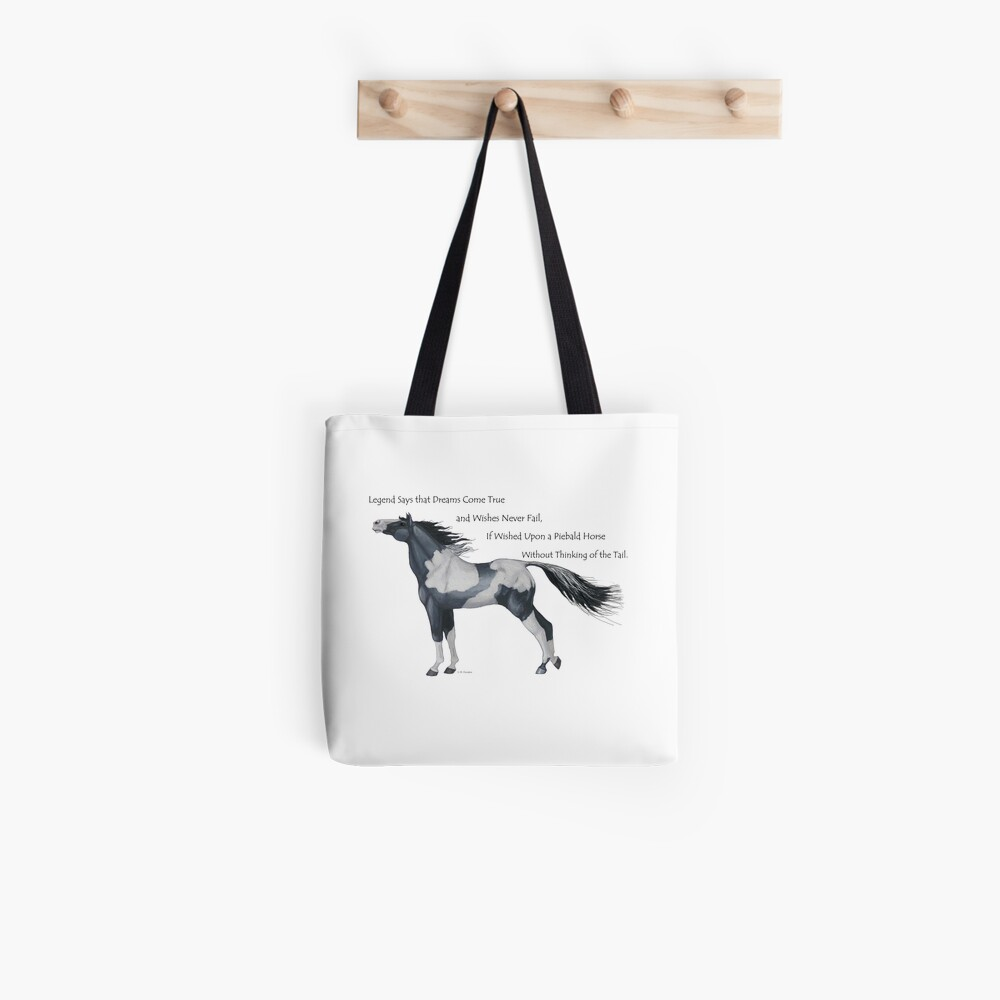 Wish Upon a Piebald Horse Tote Bag