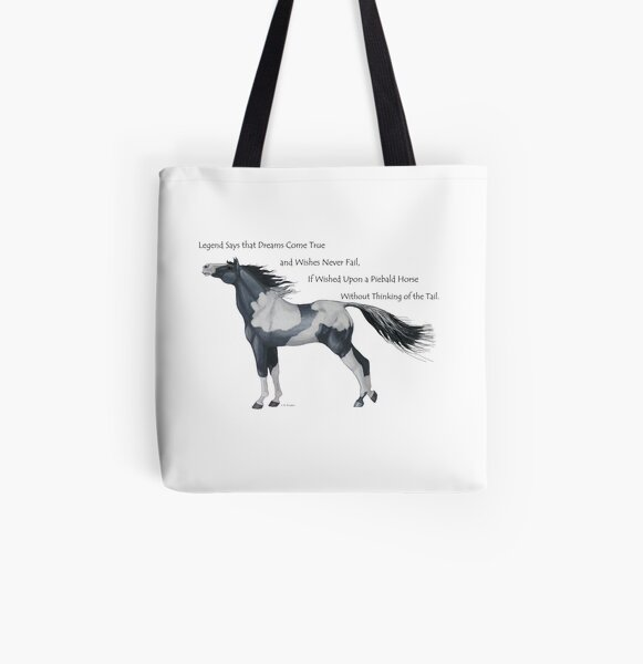 Wish Upon a Piebald Horse All Over Print Tote Bag