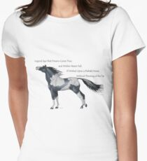 Wish Upon a Piebald Horse Women's Fitted T-Shirt