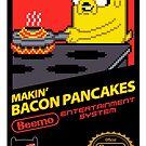 Super Makin' Bacon Pancakes Sticker Version by RyanAstle