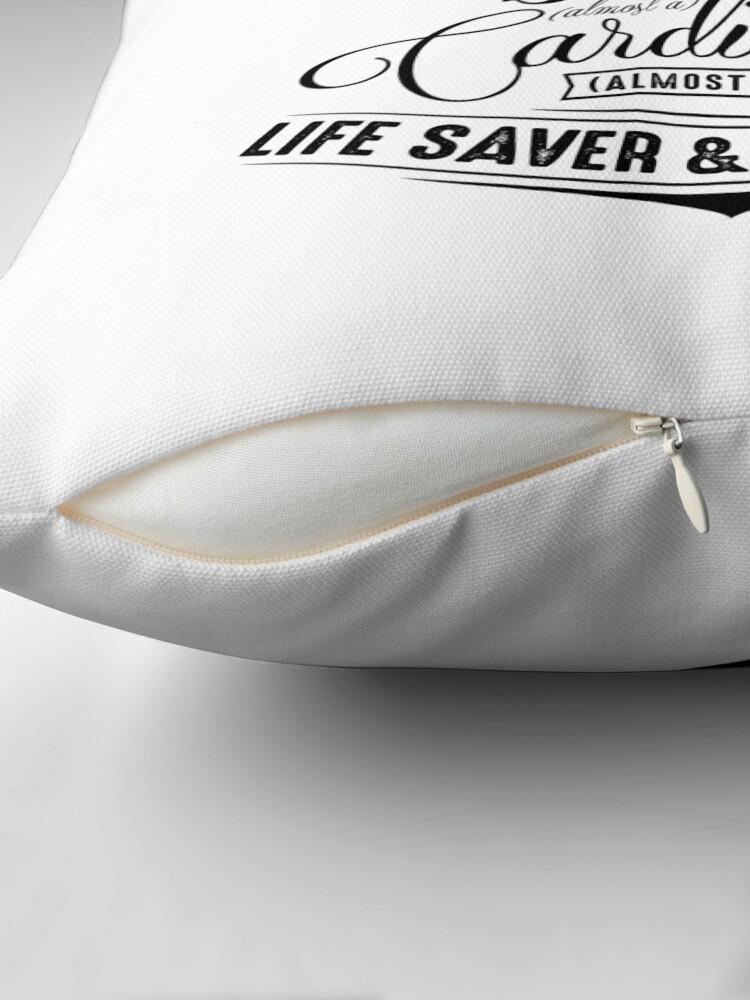 Alternate view of Paramedic - Life Saver and Taxi Driver Throw Pillow