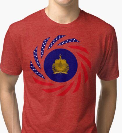 Vermont Murican Patriot Flag Series Tri-blend T-Shirt