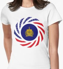 Vermont Murican Patriot Flag Series Women's Fitted T-Shirt