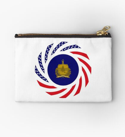Vermont Murican Patriot Flag Series Zipper Pouch