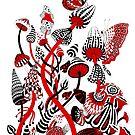«Setas rojas y negras» de Ruta Dumalakaite