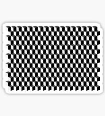 Cube - abstract pattern Sticker