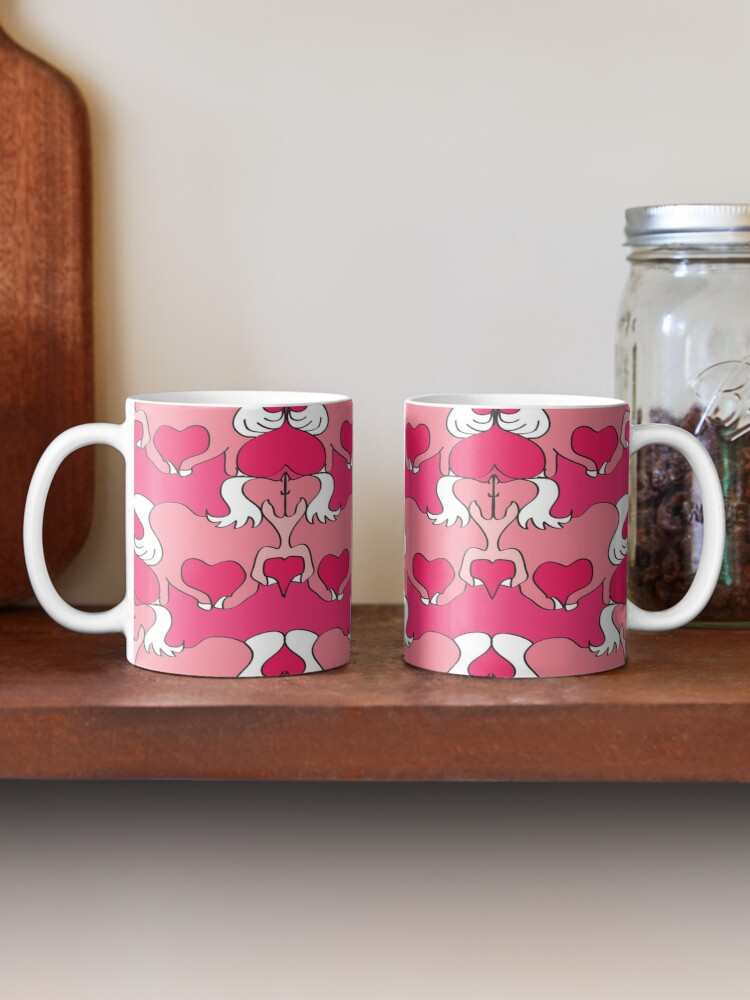 Alternate view of Horse Lovers - Horses & Hearts in Red & Pink Mug