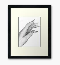 Hand,Pencil drawing, Framed Print
