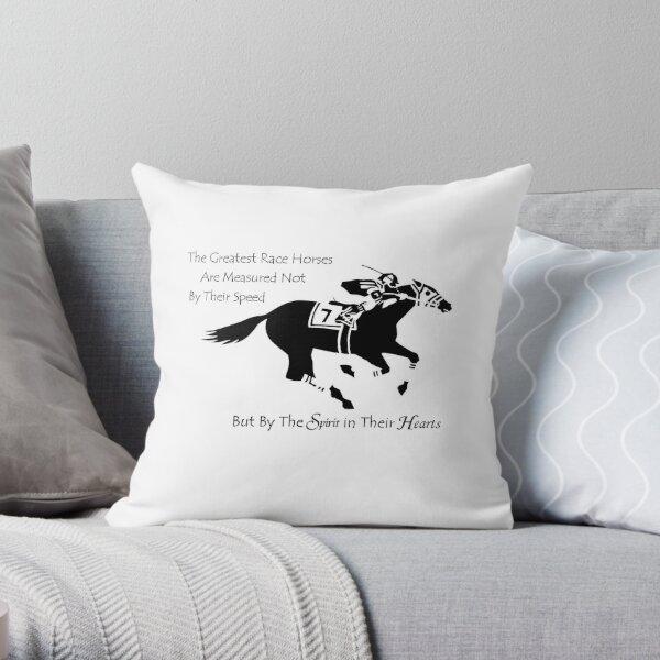 The Greatest Race Horses.... Throw Pillow