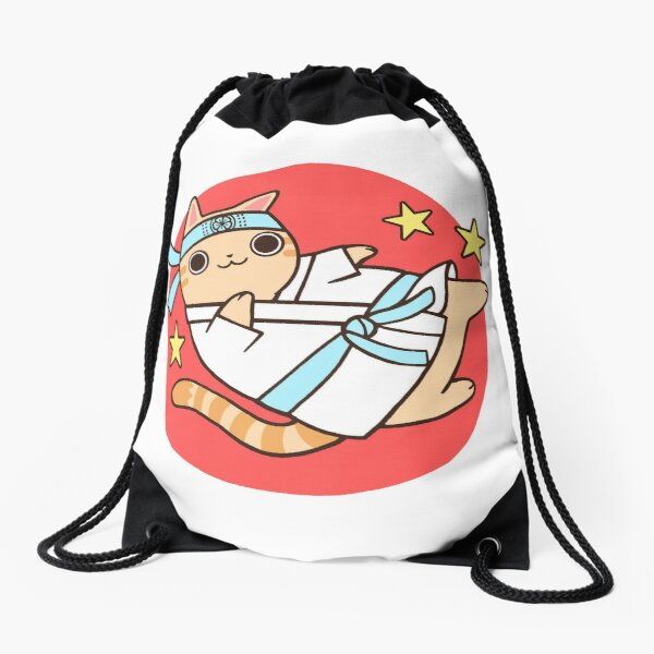 Karate Cat Drawstring Bag