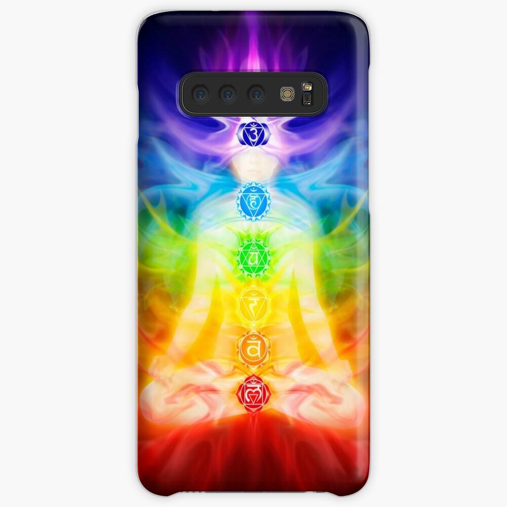 Chakras und Energie fließen auf Kunstfotoabzug des menschlichen Körpers Hüllen & Klebefolien für Samsung Galaxy