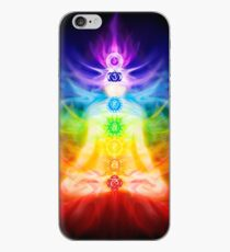 Chakras and energy flow on human body art photo print iPhone Case