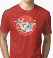 Karate Cat Tri-blend T-Shirt