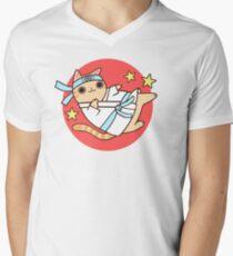 Karate Cat Men's V-Neck T-Shirt