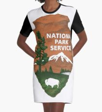 Nationalpark Service T-Shirt Kleid