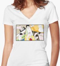 Ping Pong The Animation Print Women's Fitted V-Neck T-Shirt
