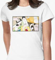 Ping Pong The Animation Print Women's Fitted T-Shirt