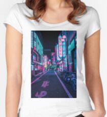 Tokyo - A Neon Wonderland Fitted Scoop T-Shirt