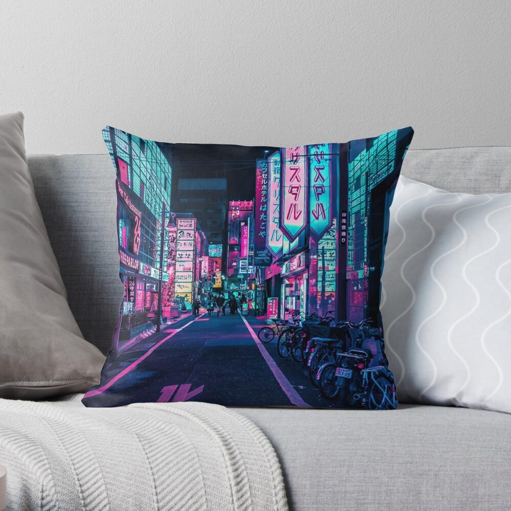 Tokyo - A Neon Wonderland Throw Pillow