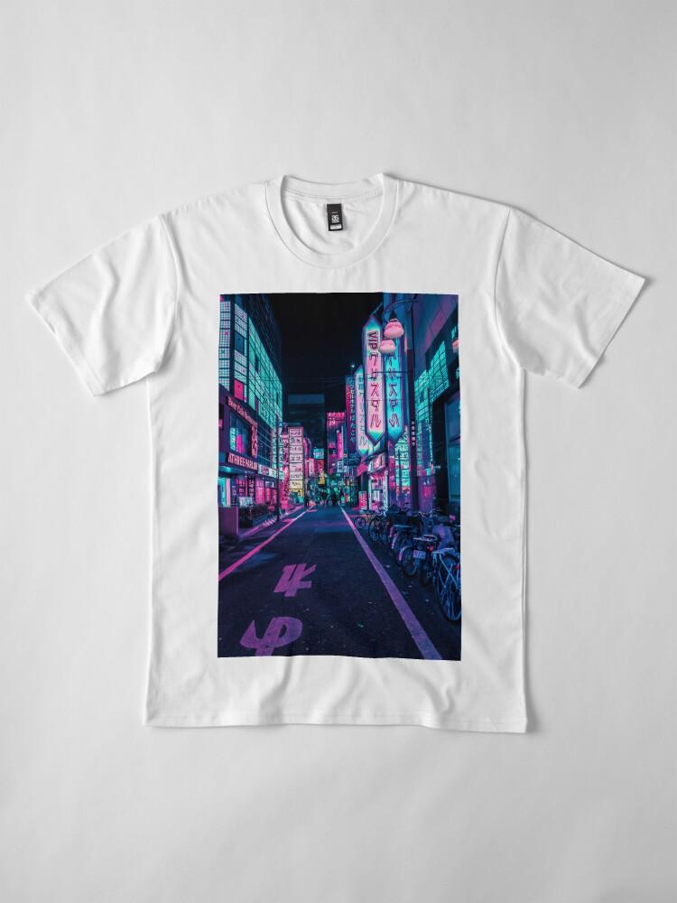 Alternative Ansicht von Tokio - Ein Neon-Wunderland Premium T-Shirt