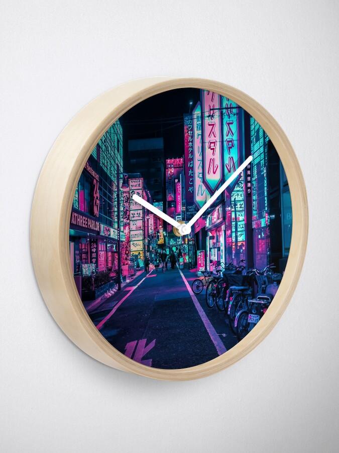 Alternate view of Tokyo - A Neon Wonderland  Clock