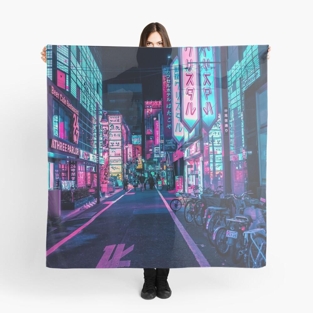 Tokio - Ein Neon-Wunderland Tuch