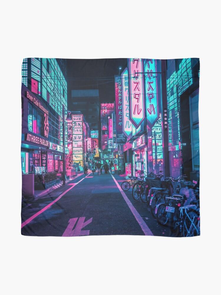 Alternative Ansicht von Tokio - Ein Neon-Wunderland Tuch
